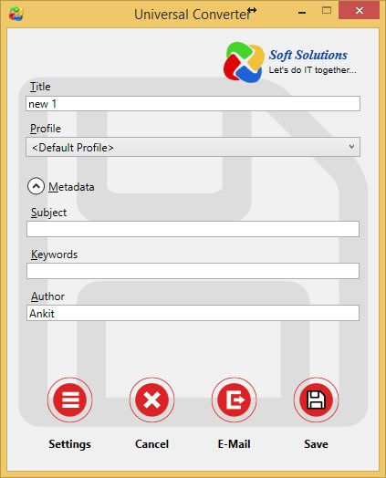 Click to view Universal Converter 1.0.1 screenshot