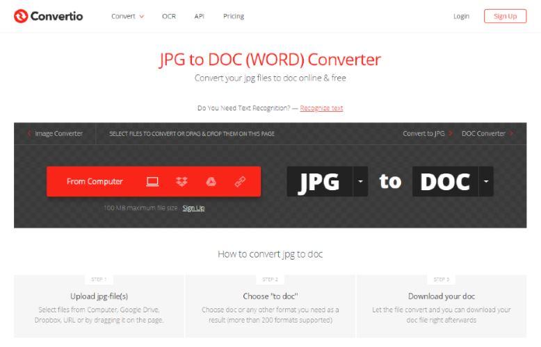 Convertio.co Screenshot