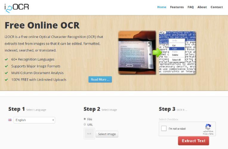 I2OCR.com Screenshot