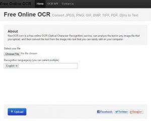 NewOCR.com Screenshot
