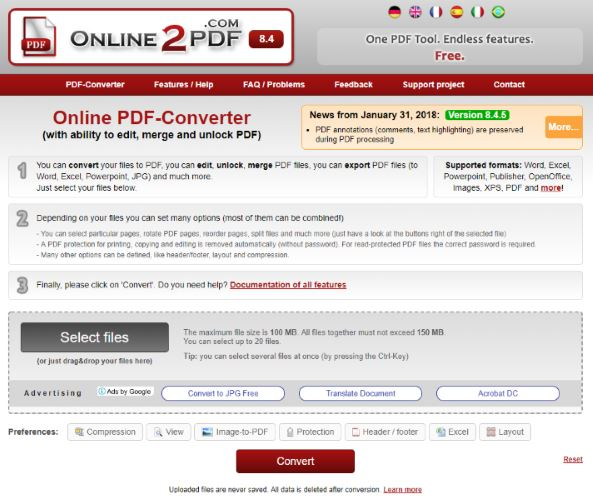 Online2PDF.com Screenshot