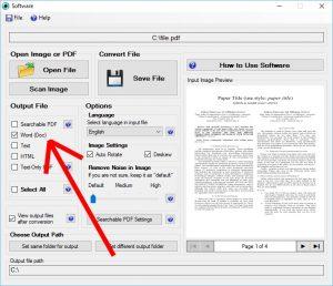 JPG to Word Converter Screenshot
