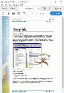 Image based PDF Sample