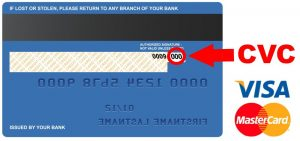 Credit Card CVC Code